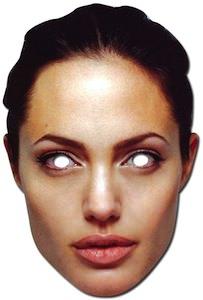 Angelina Jolie paper mask