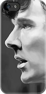 Benedict Cumberbatch portrait iPhone 5S case