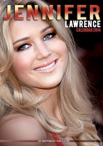 Jennifer Lawrence wall calendar 2014