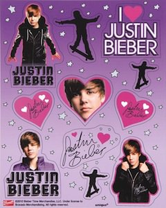 Justin Bieber Sticker Sheet