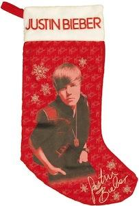 Justin Bieber Christmas Stocking